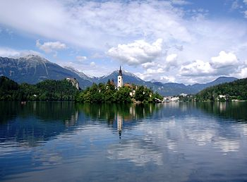English: Lake Bled, Slovenia, July 2005