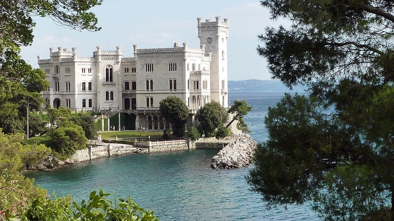 The Miramare Castle's history has roots that can be traced as far as back as the ancient times